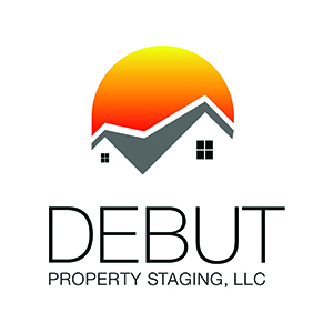 Debut Property Staging LLC House & Sun Logo