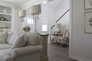 Debut Property Staging LLC Living Room & Stairs