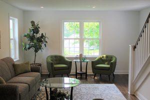 Debut Property Staging LLC Furnished Living Room