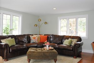 Debut Property Staging LLC Neutral Walls Leather Couch Living Room