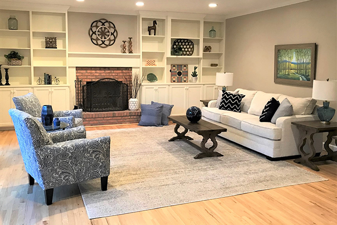 Debut Property Staging Albany New York After Built Ins
