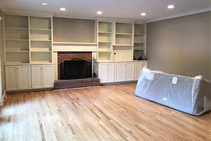Debut Property Staging Albany New York Before Built-Ins